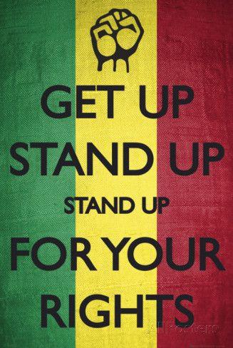 Get Up Stand Up, in Rasta kleuren Posters bij AllPosters.nl