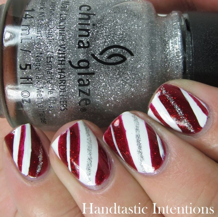Handtastic Intentions: Candy Cane Nail Art Christmas Nails Candy Stripes China G…