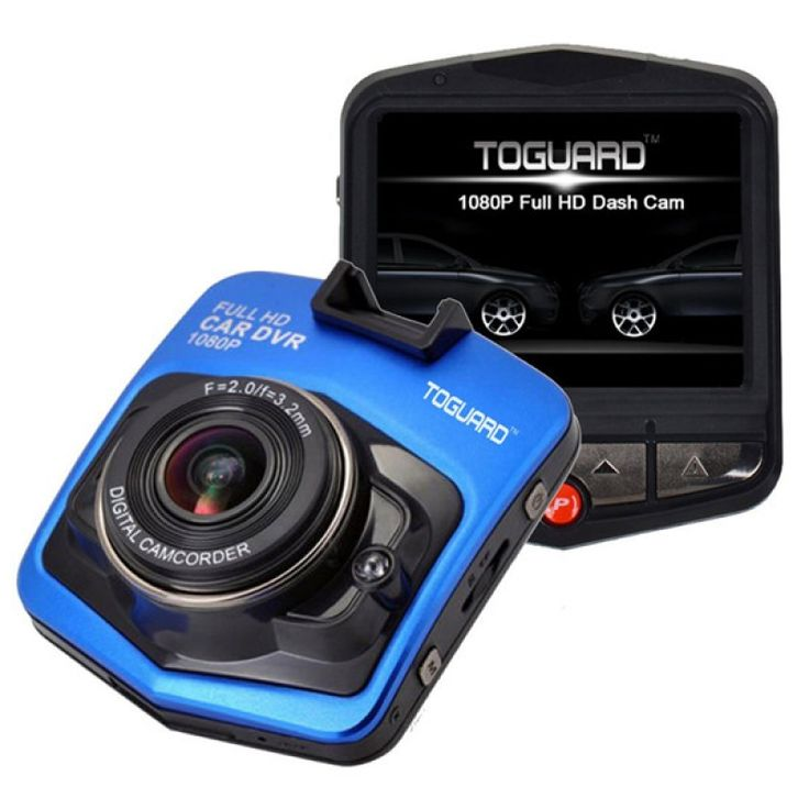 """GT300 1080P 2.4"""" Car Video Recorder with 120 Degree View Angle / Night Vision / G-Sensor Motion Blue"""