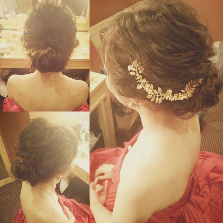 * * * ***** #花嫁#花嫁ヘア#ウェディング#ウェディングドレス#ブライダル#ブライダルヘア#ブライダルヘアメイク#結婚式#ヘアスタイル#トリートドレッシング#ヘアメイク#ヘアセット#ヘアアレンジ#アップスタイル #シニヨンヘア #カラードレス #bridal#wedding#hairmake#bridalhairmake