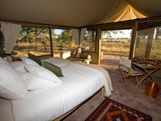Bio Bio Expeditions travelers experience one of the luxury safari camps on the Zambezi River, Africa.  http://bbxrafting.com/product/zambezi-explorer/