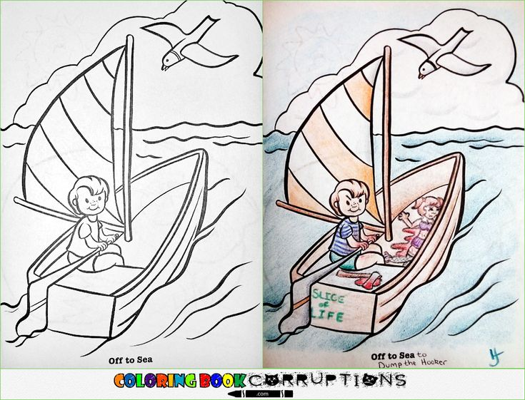 Summer Sailing The Ocean Is Such A Vast Place Share Your Own Twisted Coloring Pages