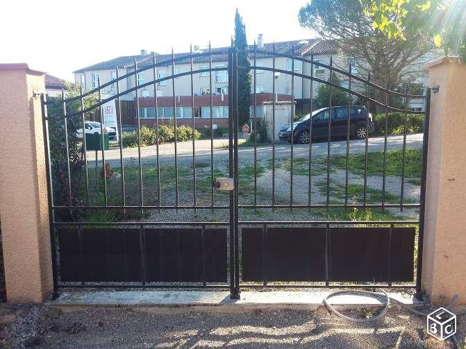 60 best images about idees portails fer double vantaux on pinterest iron gates metal gates. Black Bedroom Furniture Sets. Home Design Ideas