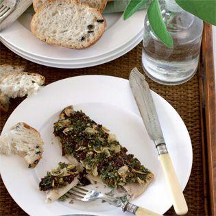 Rezept aus Grüner kochen: Gebackene Felchen mit Kräuterkruste