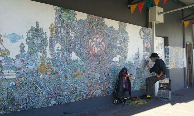 Horatio T Birdbath-his artwork is so good! Had the privilege of seeing him working on it