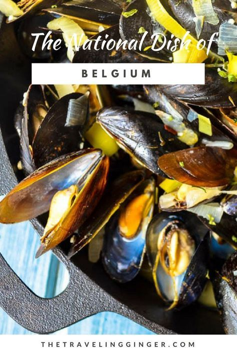 Cooking the National Dish of Belgium. Belgium's most loved dish is Moules et Frites or mussels and fries. Use this Belgian recipe for Moules et Frites. Travel to Belgium by making their national dish. #belgium #belgianfood #recipe #moules