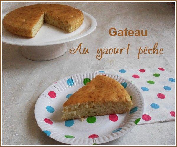 Gâteau au yaourt pêche (Weight Watchers)