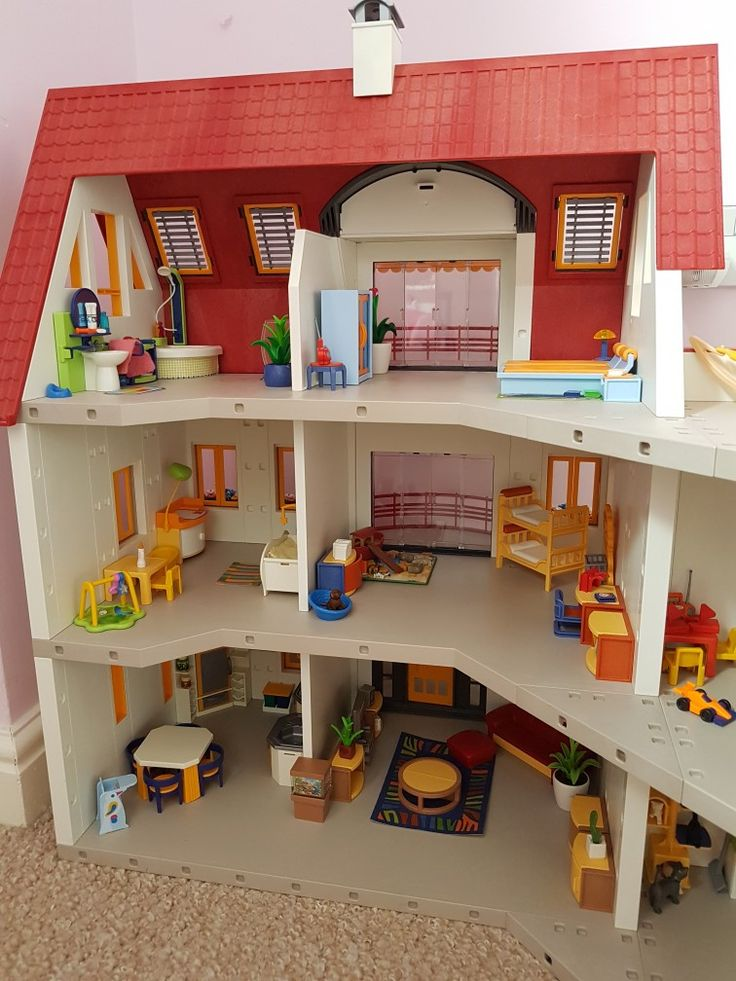 Pin by kirsty chard on playmobil extended suburban house for Maison playmobil 4279