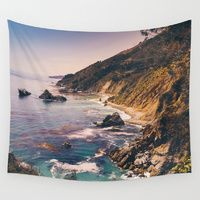 Wall Tapestry featuring Big Sur Pacific Coast Highway by Bethany Young Photography. #walltapestry #tapestry #california #bigsur #pacific #pacificcoast #pacificocean #mountains #ocean #landscape #landscapephotography