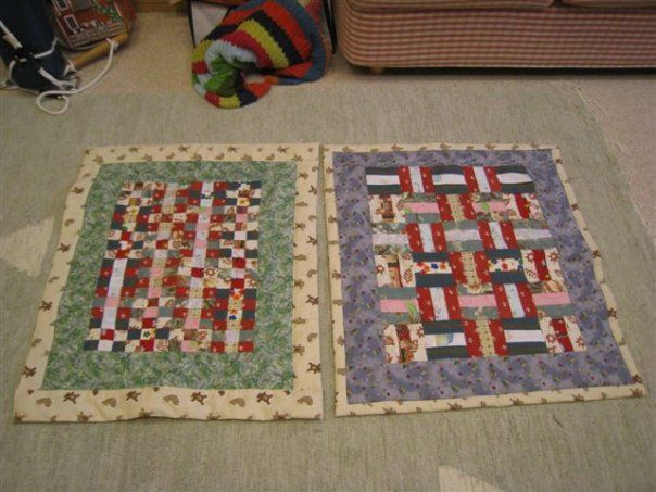 Baby quilts for twins