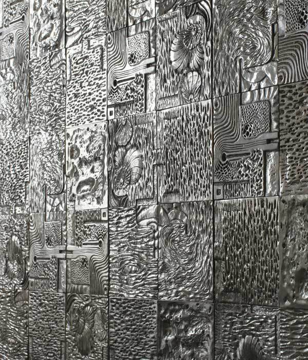 recycled cast aluminum Wall Tiles by David Umemoto