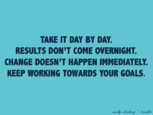 stick to your goals