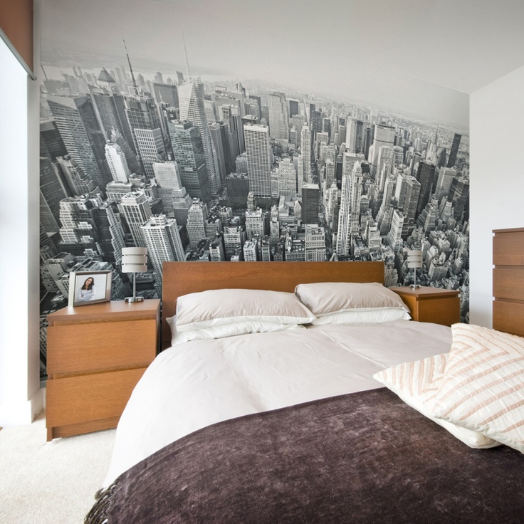 14 best bedroom ny theme images on pinterest for Broadway wall mural