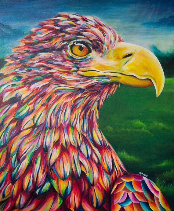 Whitetailed Eagle Acrylic Painting by claudelle on Etsy ...