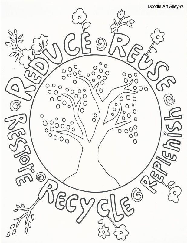 Earth Day Coloring Pages From Doodle Art Alley Print And Enjoy Earthdayactivties