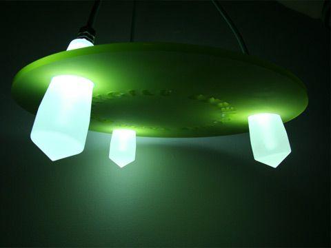 Lighting Fixtures Fiberoptic Lamp. Design and manufacture by Kent Laursen Denmark