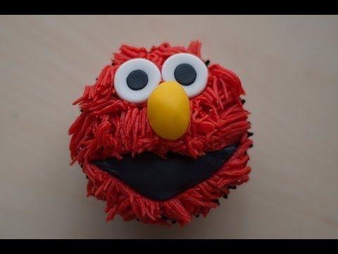 Cómo hacer Cupcake de Elmo (tutorial fácil) ♥ Bocados Divinos