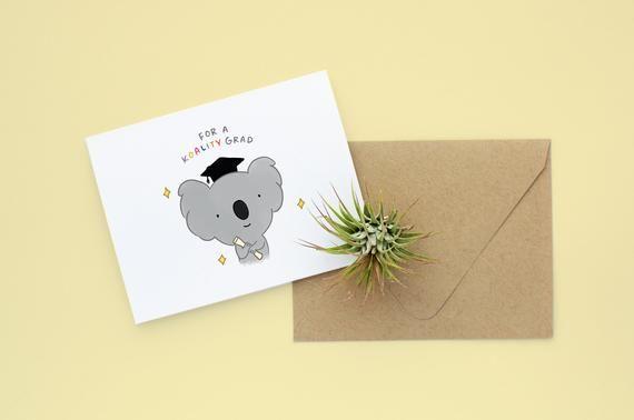 Koala Graduation Card Punny Graduation Card Graduation Pun Etsy Cards Blank Birthday Cards Graduation Cards