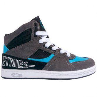 Etnies Ollie King SMU Kids Shoes Grey Black Blue