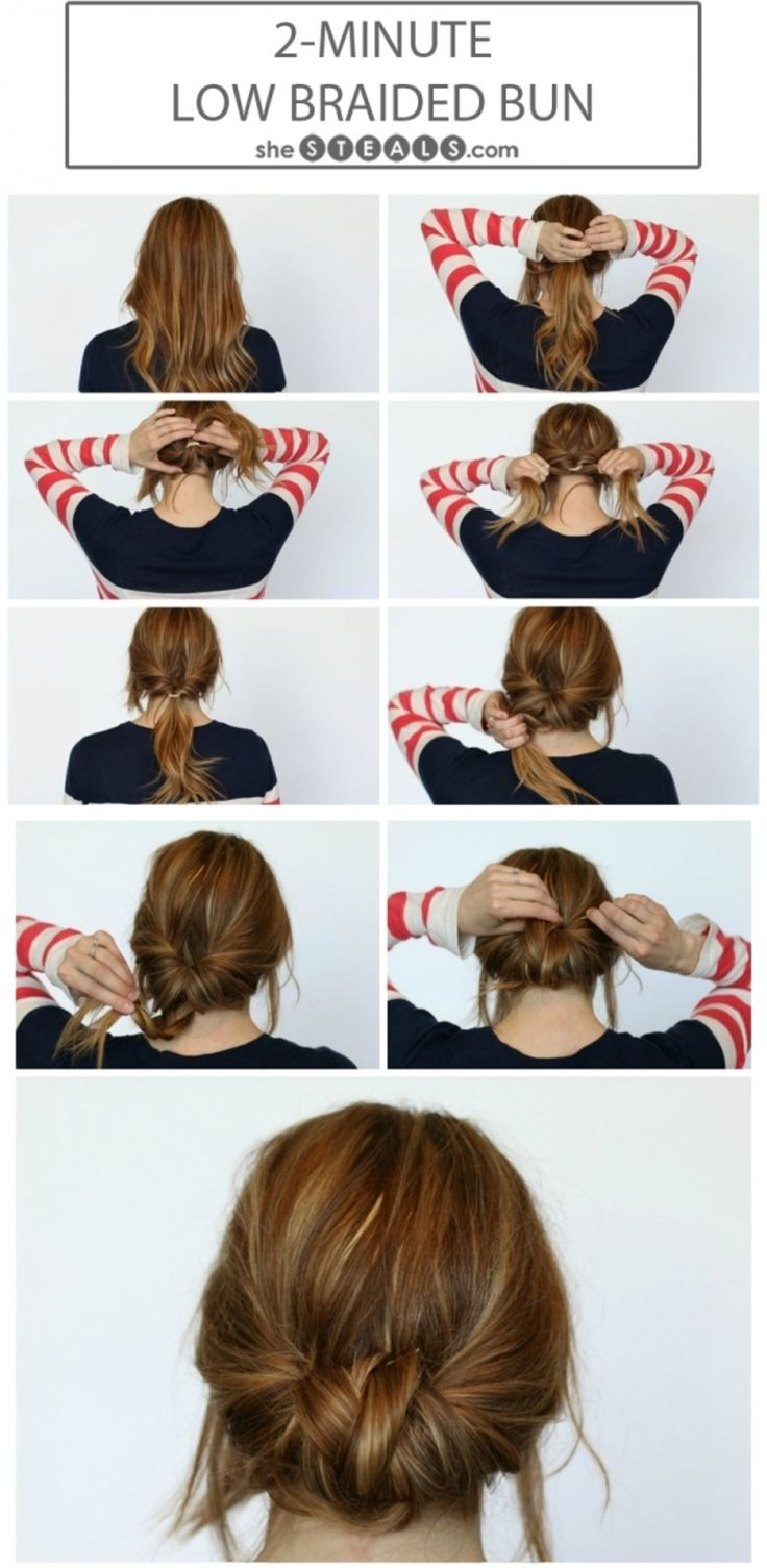 9. #Low-Braided Bun - 17 Gorgeous #Hairstyles for Lazy Girls ... → Hair #Hacks