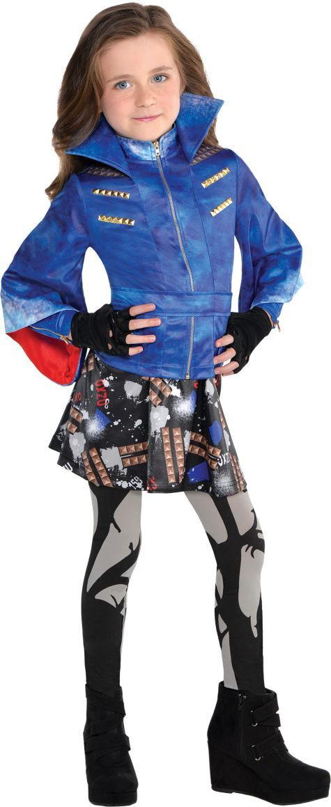 Girls Evie Costume - Disney Descendants - Party City