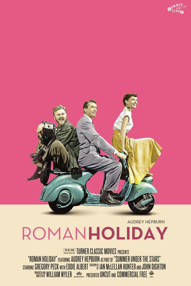 1953 Roman Holiday New Reimagined Posters from Turner Classic Movies. One of my favorite movies ever. http://mundodecinema.com/melhores-filmes-cinema/ - Garanta agora mesmo a sua cópia gratuita do E-Book 25 FILMES QUE MUDARAM A HISTÓRIA DO CINEMA. Uma oferta do blog Mundo de Cinema!