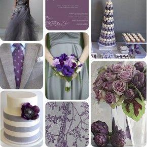 Inspiration Purple Grey Weddings