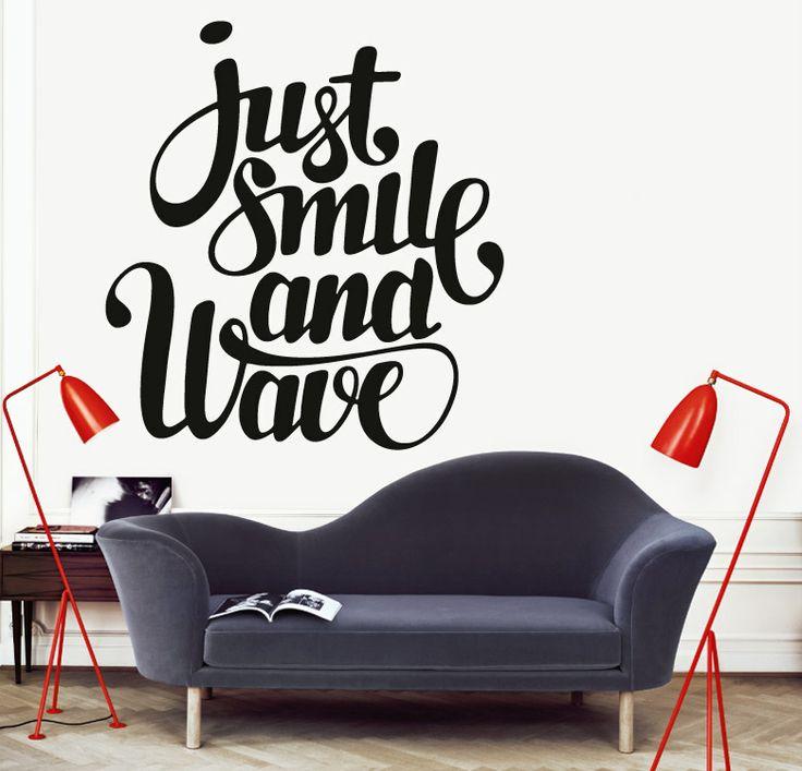 Smile for Vinilos decorativos textos
