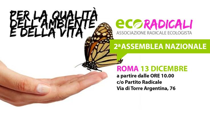 Seconda Assemblea EcoRadicali: Roma, 13 dicembre 2015