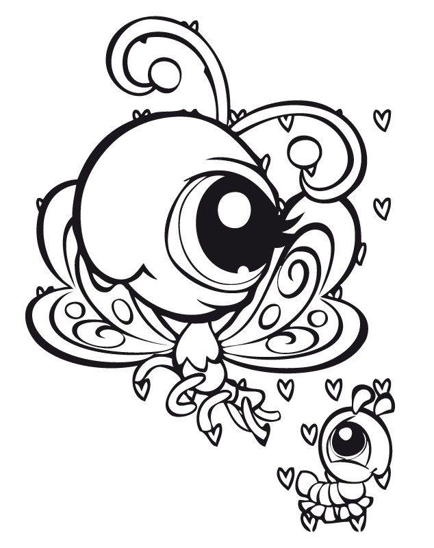 Desenhos para pintar Littlest pet shop 33