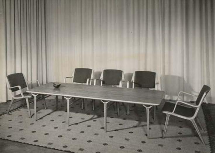 Peter Hvidt & Orla Molgaard upholstered AX chairs for Fritz Hansen