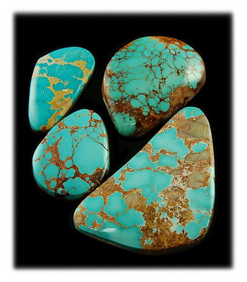 Blue Royston Turquoise Stones - View our new web presentation on Royston Turquoise Cabochons by John Hartman of Durango Silver Company