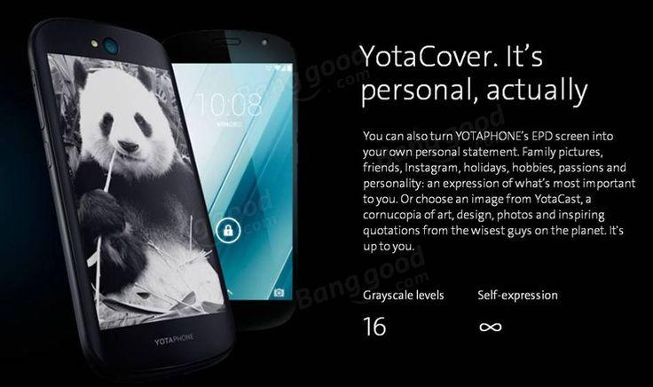 Yotaphone 2 5.0 Inch 2GB RAM 32GB ROM Snapdragon 801 Quad Core Smartphone Sale - Banggood.com