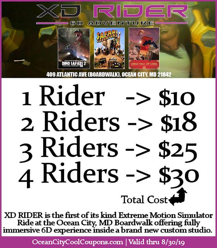 Xd Rider 6d Adventure Ocean City Cool Ocean City Ocean City Md Ocean