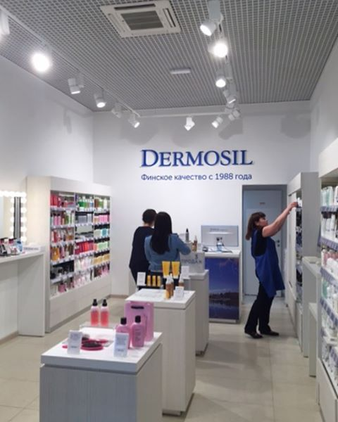 Both of our Russian Dermosil showrooms are located in St . Petersburg. Please stop by if you're around sometime 🇷🇺👋🏻 #dermosilu #showroom #dermosil #stpetersburg