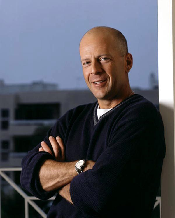 A bald head, and Bruce Willis isn't too bad either! ;)