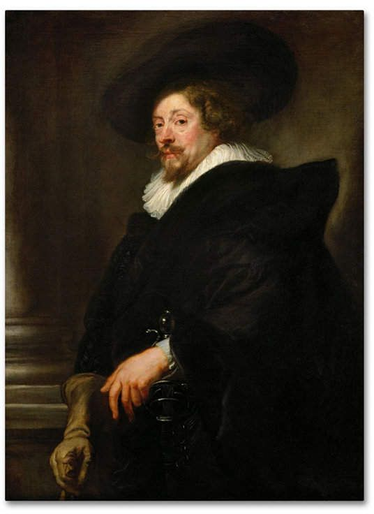 Peter Paul Rubens 'Selfportrait' Canvas Art – 19 x 14 x 2