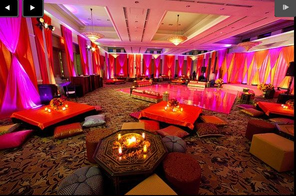 love the colors. awesome back drop and nice for at home mehndi party