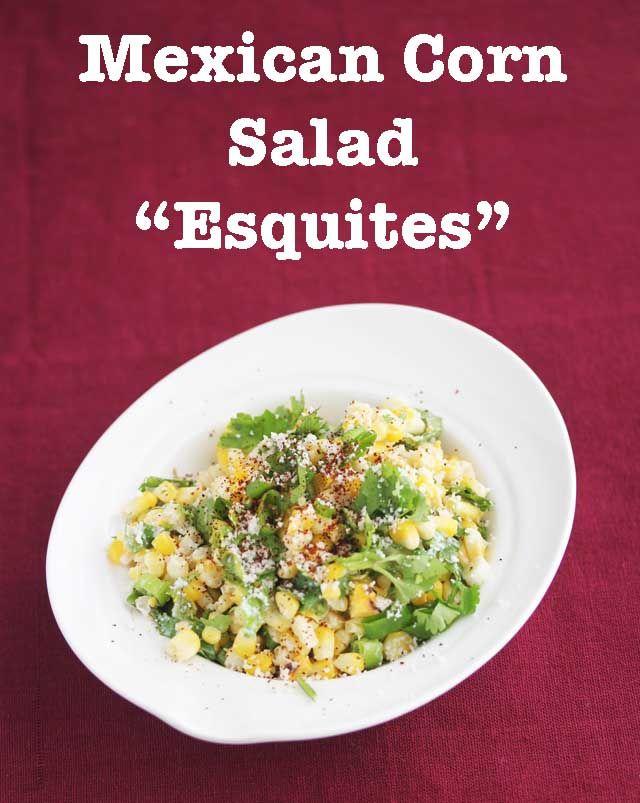 Mexican Corn Salad Esquites © Jeanette's Healthy Living #CSA #esquites #summer #recipe