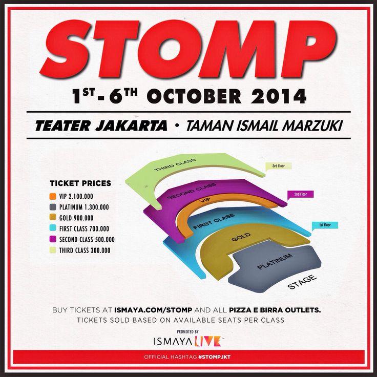 #STOMP info tickets !!