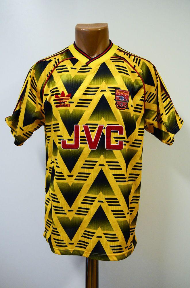 ARSENAL LONDON 1991/1992/1993 AWAY FOOTBALL SHIRT JERSEY ADIDAS VINTAGE ENGLAND in Sports Memorabilia, Football Shirts, English Clubs | eBay