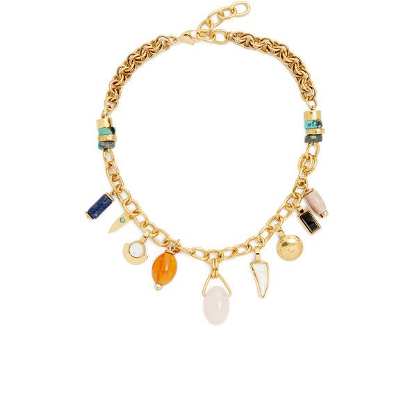 Lizzie Fortunato The Icon Necklace ($450) ❤ liked on Polyvore featuring jewelry, necklaces, bauble jewelry, 18 karat gold necklace, 18k gold filled jewelry, gold filled jewelry and chunky chain necklaces