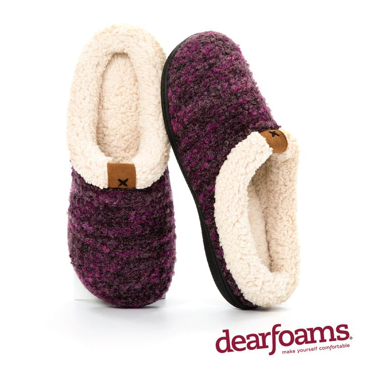 With a plush faux shearling trim, a suede patch and multi-color knit, these  Dearfoams Bouclé Knit Clogs exude rustic charm. - Hey someone gift me a  pair of ...