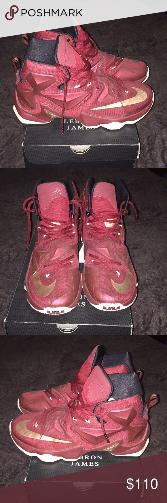 """Nike LEBRON 13s """"Maroon"""" Nike LEBRON 13s """"Maroon"""" Size:11 Shoes will be thoroughly cleaned with (Crep or Jason Markk). Nike Shoes Sneakers"""