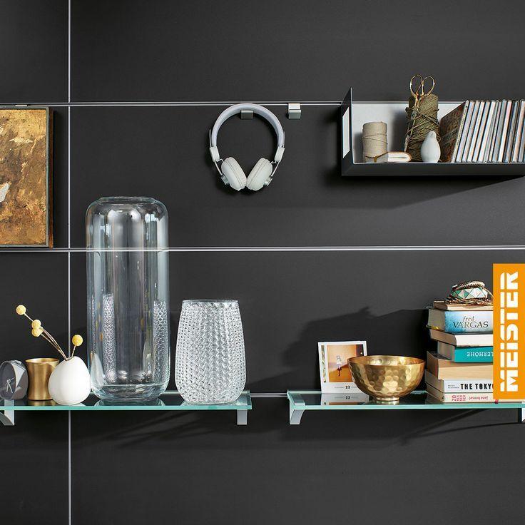 Paneele mit Haken oder beleuchteten Regalböden | Panels with hooks or illuminated shelves –  – #badezimmerideen