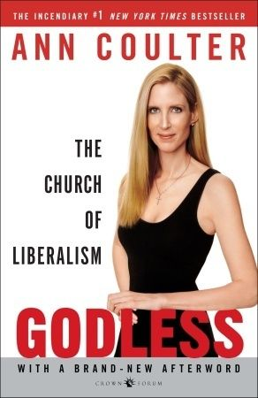 Godless: The Church of Liberalism by Ann Coulter She shows how evolution, liberalism, and barbarism is the official state religion. It's so perfect!