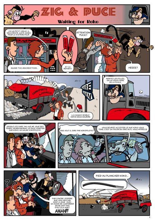 HOMMAGE À ALAIN SAINT-OGAN : Zig et Puce – planche 3 colorisée  #bd   #zigetpuce   #alainsaintogan    http://frederic.baylot.org/post/11914-zpa3col