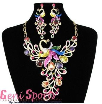 Beautiful Bridal Phoenix Jewelry Set for Free Shipping 2011 New Styles Necklaces and Earrings Sets $129