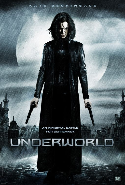 """Underworld"" - Selene, a beautiful vampire warrior, entrenched in a war between the vampire and werewolf races. Although she is aligned with the vampires, she falls in love with Michael, a human who is sought by werewolves for unknown reasons. Kate Beckinsale plays a great woman warrior. Image and info credit: IMDb."