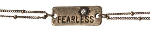 Antique Fearless Petite Charm Double Chain Bracelet Confidence Positive Energy Jewelry Nexus, Women's, Brass-tone